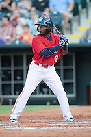 Oklahoma City RedHawks left fielder Ruben Sosa (2)  during the Pacific League game against the Colorado Springs Sky Sox at the Chickasaw Bricktown Ballpark on August 3, 2014 in Oklahoma City, Oklahoma.  The RedHawks defeated the Sky Sox 8-1.  (William Purnell/Four Seam Images)