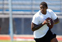 JEANNETTE, PA - AUGUST 12:  Terrelle Pryor works out at a practice facility on August 12, 2011 in Jeannette, Pennsylvania.  (Photo by Jared Wickerham/Getty Images)