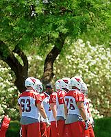 May 19, 2009; Tempe, AZ, USA; Arizona Cardinals players during organized team activities at the Cardinals practice facility. Mandatory Credit: Mark J. Rebilas-
