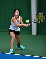 November 130, 2014, Almere, Winter Jeugd Circuit, WJC,  Lian Tran   Femke Mars<br /> Photo: Henk Koster