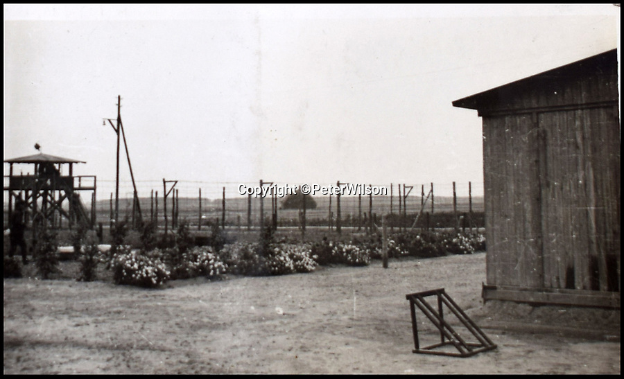 BNPS.co.uk (01202 558833)<br /> Pic: PeterWilson/BNPS<br /> <br /> Gardens which were tended to by the prisoners.  <br /> <br /> A fascinating photo album has to come to light to reveal what went on inside a German POW camp - including stage shows in drag.<br /> <br /> The Stalag Luft IV B album was compiled by British prisoner David Courtney, of 102 Squadron, whose Halifax was shot down near Berlin on January 20, 1944.<br /> <br /> One of the photos shows the funeral of a British soldier who was assassinated by the German guards, although they have taken part in the ceremony by lifting their guns above the coffin.<br /> <br /> Another shows a theatre performance put on by inmates where the performers were dressed as women to keep up morale.