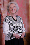 Mexican author Elena Poniatowska attends the lunch in ocassion of the '2013 Cervantes Award' at the Royal Palace on April 22, 2014 in Madrid, Spain. (Jose Luis Cuesta/Pool/Alterphotos)
