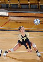 Florida International University women's volleyball player Rachel Fernandez (5) plays against Western Kentucky University.  Western Kentucky won the match 3-0 on September 30, 2011 at Miami, Florida. .