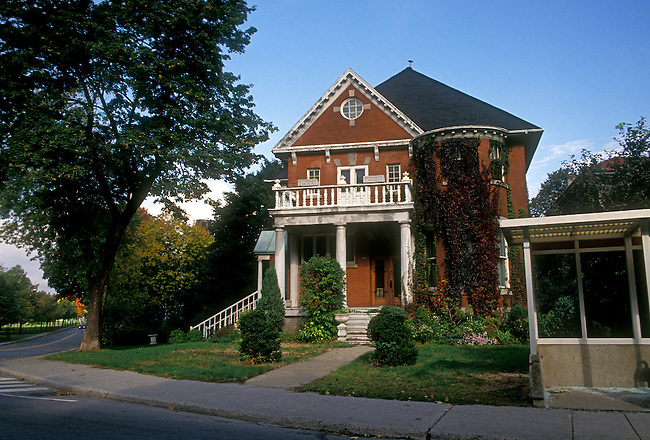 Architecture, Outremont District, city of Montreal, Quebec Province, Canada, North America..