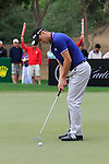Martin Kaymer takes his putt on the 13th green during Day 2 Friday of the Abu Dhabi HSBC Golf Championship, 21st January 2011..(Picture Eoin Clarke/www.golffile.ie)