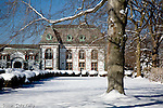Belcourt Castle mansion in winter,  Newport, RI