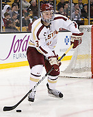 Patch Alber (BC - 3) - The Boston College Eagles defeated the Providence College Friars 4-2 in their Hockey East semi-final on Friday, March 16, 2012, at TD Garden in Boston, Massachusetts.