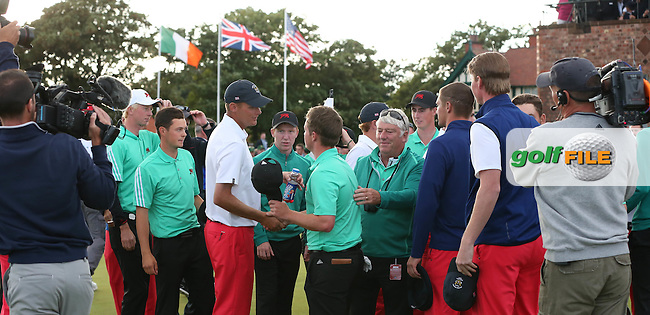 GB&amp;Ireland win The Walker Cup 2015 played at Royal Lytham and St Anne's, Lytham St Anne's, Lancashire, England. 13/09/2015. Picture: Golffile   David Lloyd<br /> <br /> All photos usage must carry mandatory copyright credit (&copy; Golffile   David Lloyd)