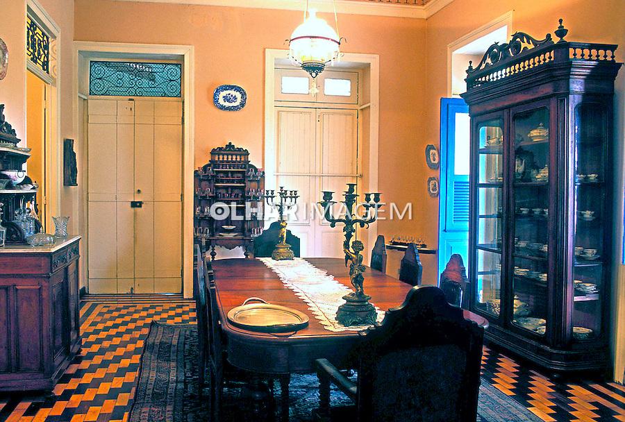 Sala de casa colonial em Olinda, PE. Foto: Renata Mello.