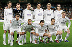 Teamphoto of Real Madrid, up to down fltr, Ruud van Nistelrooy, Iker Casillas, Ivan Helguera, David Beckham, Fernando Gago, Gonzalo Higuain, Roberto Carlos, Raul, Fabio Cannavaro and Jose Maria Gutierrez UEFA Champions League match at Santiago Bernabeu stadium in Madrid, Tuesday February 20, 2007. (ALTERPHOTOS/Alvaro Hernandez).