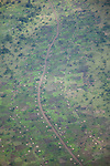 Aerials over a village in Omo Valley