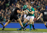 19th November 2016 | IRELAND vs NEW ZEALAND<br /> <br /> Andrew Trimble is tackled by Owen Franks during the Autumn Series International clash between Ireland and New Zealand at the Aviva Stadium, Lansdowne Road, Dublin,  Ireland. Photo by John Dickson/DICKSONDIGITAL