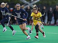 College Park, MD - April 19, 2018: Maryland Terrapins Megan Whittle (23) in action during game between Penn St. and Maryland at  Field Hockey and Lacrosse Complex in College Park, MD.  (Photo by Elliott Brown/Media Images International)