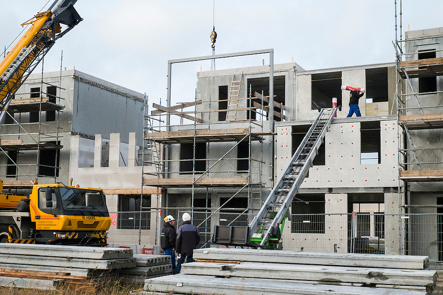 Nederland, Almere, 8 jan 2014<br /> Almere de Poort. Bouwactieviteiten<br /> Foto: Michiel Wijnbergh