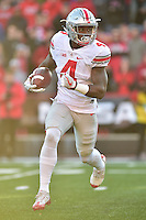 College Park, MD - NOV 12, 2016: Ohio State Buckeyes running back Curtis Samuel (4) scores on a toss during the game between Maryland and Ohio State at Capital One Field at Maryland Stadium in College Park, MD. (Photo by Phil Peters/Media Images International)