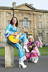 Pix: Shaun Flannery/shaunflanneryphotography.com...COPYRIGHT PICTURE>>SHAUN FLANNERY>01302-570814>>07778315553>>..3rd August 2010..............ABBA tibute duo Twice as Nice, Trish Wood (pink) and Daniela Edward (blue) get in tune for the forthcoming Cusworth Music Festival (August Bank Holiday Sunday 29th) . The open air summer music event will feature 70's glam rockers The Sweet with money being raised for the Aurora Centre, a Doncaster based cancer charity.