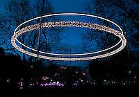 Amsterdam Light Festival. Lichtkunst in het centrum. Object O.