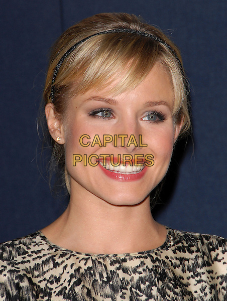 KRISTEN BELL.The Declare Yourself Celebration held at The Wallis Annenberg Center for the Performing Arts in Beverly Hills, California, USA..September 27th, 2007  .headshot portrait alice band.CAP/DVS.©Debbie VanStory/Capital Pictures