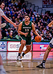 19 January 2019: Binghamton University Bearcat Forward Calvin Poulina, a Freshman from Leiden, Netherlands, in second half Men's Basketball action against the University of Vermont Catamounts at Patrick Gymnasium in Burlington, Vermont. The Bearcats fell to the Catamounts 78-50 in America East conference play. Mandatory Credit: Ed Wolfstein Photo *** RAW (NEF) Image File Available ***