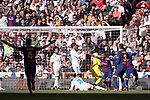 Jose Paulo Bezerra Maciel Junior, Paulinho, of FC Barcelona celebrates the second goal of the team by Lionel Andres Messi during the La Liga 2017-18 match between Real Madrid and FC Barcelona at Santiago Bernabeu Stadium on December 23 2017 in Madrid, Spain. Photo by Diego Gonzalez / Power Sport Images