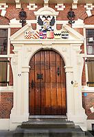 Nederland Maassluis.  2016 08 05.  Maassluis. Deur in het Gemeenlandshuis.  Foto Berlinda van Dam / Hollandse Hoogte