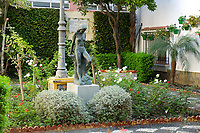 Courtyard, shrubs, flowers, Estepona, Malaga Province, Spain, Espa&ntilde;a, October, 2018, 2018100817<br />