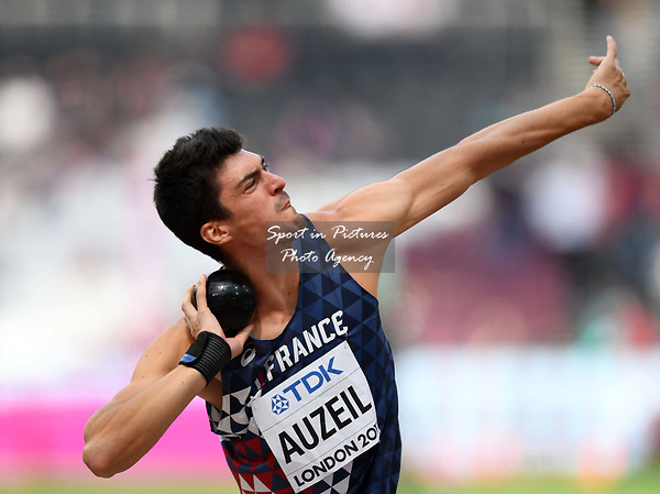 Bastien AUZEIL (FRA) in the mens decathlon shot put. IAAF world athletics championships. London Olympic stadium. Queen Elizabeth Olympic park. Stratford. London. UK. 11/08/2017. ~ MANDATORY CREDIT Garry Bowden/SIPPA - NO UNAUTHORISED USE - +44 7837 394578