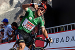 Green Jersey holder Caleb Ewan (AUS) Lotto-Soudal wins Stage 2 the Dubai Municipality Stage of the UAE Tour 2020 running 168km from Hatta to Hatta Dam, Dubai. 24th February 2020.<br /> Picture: LaPresse/Fabio Ferrari | Cyclefile<br /> <br /> All photos usage must carry mandatory copyright credit (© Cyclefile | LaPresse/Fabio Ferrari)