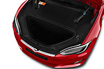 Car stock 2017 Tesla Model S 100D 5 Door Hatchback engine high angle detail view