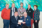Ardfert GAA with a cheque from Chapter 21Credit Union presented by Kerry County GAA board,  chairman Patrick O'Sullivan at the Manor West Hotel on Thursday Pictured Patrick O'Sullivan, Joe Wallace, Dermot Lynch, John O'Regan David Griffin, Paudie Dineen and Mary O'Shea