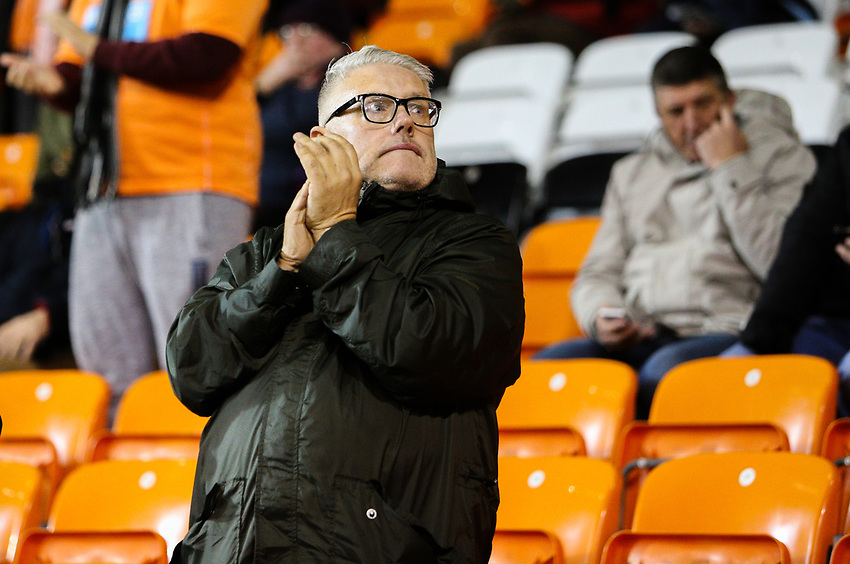 A Blackpool fan applauds his side during the second half<br /> <br /> Photographer Alex Dodd/CameraSport<br /> <br /> The EFL Sky Bet League One - Blackpool v Gillingham - Tuesday 21st November 2017 - Bloomfield Road - Blackpool<br /> <br /> World Copyright &copy; 2017 CameraSport. All rights reserved. 43 Linden Ave. Countesthorpe. Leicester. England. LE8 5PG - Tel: +44 (0) 116 277 4147 - admin@camerasport.com - www.camerasport.com