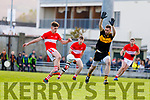 Tom Sullivan Dingle in action against Paul Clarke of Dr. Crokes during the Kerry County Senior Club Football Championship Final match between Dr Crokes and Dingle at Austin Stack Park in Tralee, Kerry on Sunday.