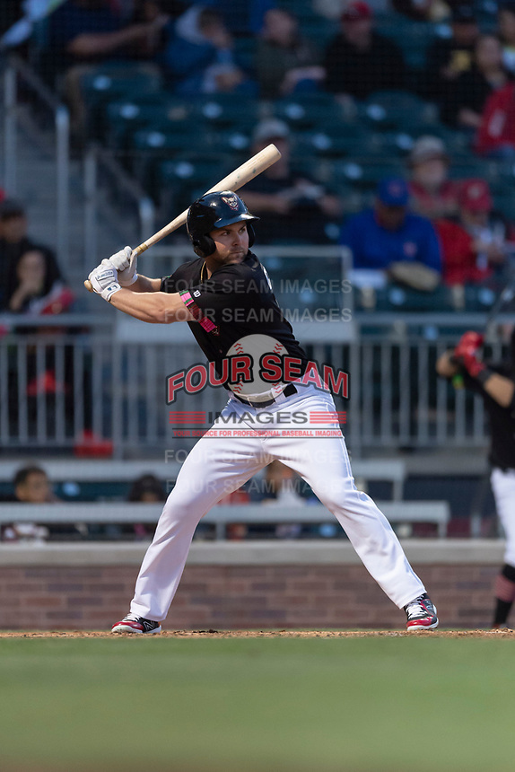 El Paso Chihuahuas left fielder Michael Gettys (7) during a Pacific Coast League game against the Albuquerque Isotopes at Southwest University Park on May 10, 2019 in El Paso, Texas. Albuquerque defeated El Paso 2-1. (Zachary Lucy/Four Seam Images)
