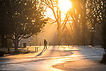 Cold sunrise.  Photo by Kevin Bain/University Communications Photography