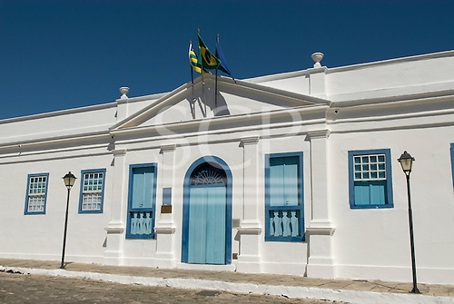 Goias Velho, Brazil. Well preserved colonial town; colonial architecture. Palacio Conde dos Arcos, now a museum.