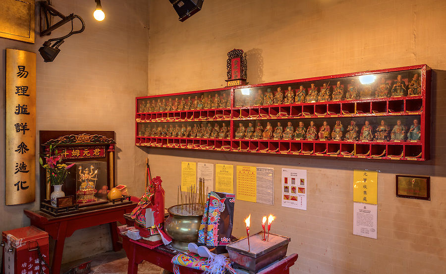 The Sixty Tai Shui (God Of Years) in the Litt Shing Kung Temple.