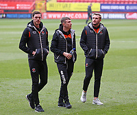 The Blackpool players inspect the pitch before kick off<br /> <br /> Photographer David Shipman/CameraSport<br /> <br /> The EFL Sky Bet League One - Charlton Athletic v Blackpool - Saturday 16th February 2019 - The Valley - London<br /> <br /> World Copyright © 2019 CameraSport. All rights reserved. 43 Linden Ave. Countesthorpe. Leicester. England. LE8 5PG - Tel: +44 (0) 116 277 4147 - admin@camerasport.com - www.camerasport.com