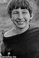 Happy lad, Summerhill school, Leiston, Suffolk, UK. 1968.