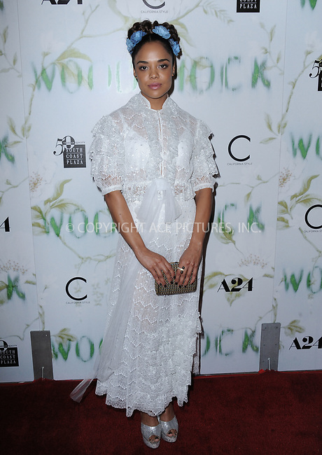 www.acepixs.com<br /> <br /> September 18 2017, LA<br /> <br /> Tessa Thompson arriving at the premiere of 'Woodshock' at the ArcLight Cinemas on September 18, 2017 in Hollywood, California<br /> <br /> By Line: Peter West/ACE Pictures<br /> <br /> <br /> ACE Pictures Inc<br /> Tel: 6467670430<br /> Email: info@acepixs.com<br /> www.acepixs.com