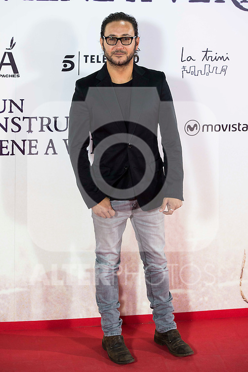 "Carlos Santos during the premiere of the spanish film ""Un Monstruo Viene a Verme"" of J.A. Bayona at Teatro Real in Madrid. September 26, 2016. (ALTERPHOTOS/Borja B.Hojas)"