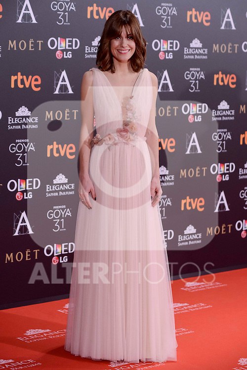 Alexandra Jimenez attends to the Red Carpet of the Goya Awards 2017 at Madrid Marriott Auditorium Hotel in Madrid, Spain. February 04, 2017. (ALTERPHOTOS/BorjaB.Hojas)