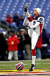 31 December 2006: Buffalo Bills punter Brian Moorman warms up prior to a game against the Baltimore Ravens at M&T Bank Stadium in Baltimore, Maryland. The Ravens defeated the Bills 19-7. Mandatory Photo Credit: Ed Wolfstein Photo.<br />