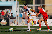 Rochester, NY - Friday June 17, 2016: Western New York Flash midfielder Abby Erceg (6), Portland Thorns FC midfielder Allie Long (10) after a regular season National Women's Soccer League (NWSL) match between the Western New York Flash and the Portland Thorns FC at Rochester Rhinos Stadium.