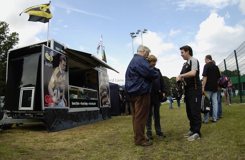 Photo: Jonathan Butler..Wasps A v Blackheath. Pre Season Friendly. 20/08/2006..London Wasps Mobile Shop.