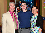 Sean O'Brien celebrating his 21st birthday in the Thatch with parents PJ and Carmel. Photo:Colin Bell/pressphotos.ie