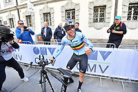 Picture by Alex Whitehead/SWpix.com - 24/09/2018 - Cycling 2018 Road Cycling World Championships Innsbruck-Tiriol, Austria - Junior Men's Individual Time Trial - Remco Evenepoel of Belgium celebrates.