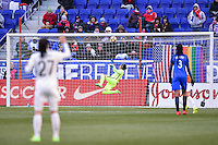 Harrison, NJ - Saturday, March 04, 2017: Sarah Bouhaddi during a SheBelieves Cup match between the women's national teams of France (FRA) and Germany (GER) at Red Bull Arena.
