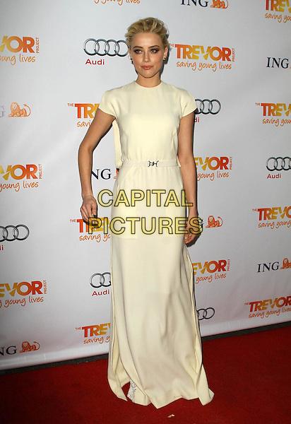 Amber Heard.Trevor Live at The Hollywood Palladium in Hollywood, California, USA..December 4th, 2011.full length dress sleeveless white cream arm .CAP/ADM/KB.©Kevan Brooks/AdMedia/Capital Pictures.