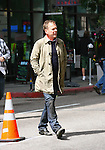 .March 29th 2012 ..Kiefer Sutherland filming his new tv show Touch in Los Angeles. Kiefer was eating a Philly cheese steak sandwich & smoking while on set.  Kiefer has fake blood on his neck and face ... AbilityFilms@yahoo.com.805-427-3519.www.AbilityFilms.com.