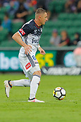 25th March 2018, nib Stadium, Perth, Australia; A League football, Perth Glory versus Melbourne Victory; Besart Berisha of Melbourne Victory runs with the ball during the second half